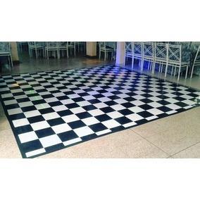 Piso Xadrez 2x4m - 8m² Dj Pista De Dança Tapete Quadriculado