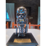 Terminator 2 T800 Endoesqueleto Cráneo Del Busto Scale 1:1