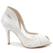 Sapato Laura Porto Peep Toe Rl9321d (noiva) | Zariff