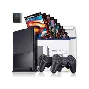 Playstation 2 Slim Destravado + 1 Manete + 3 Jogos Desblo