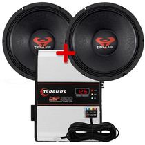 Kit 2 Woofer Ultravox 12 550 Wrms + Modulo Dsp 1600 Taramps