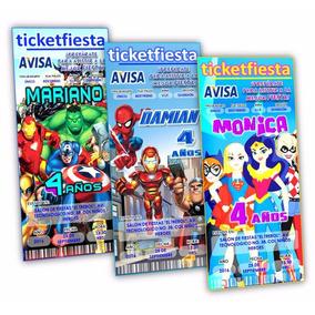 Diseño De Invitaciones Imprimibles Superheroes Dc