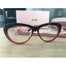cf87928b5ec13 Armacao Oculos Feminino Grau Armacoes Miu - Óculos no Mercado Livre ...
