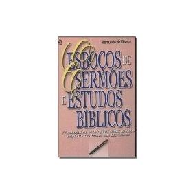 Livro Esboços De Sermões Estudos Bíblicos