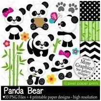 Kit Imprimible Ositos Panda Imagenes Clipart