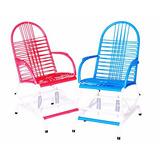 Cadeira De Balanço Infantil Área Cadeira De Fio Colorido