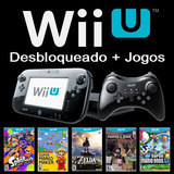 Wii U Desbloqueado + 102 Jogos Wiiu + Pro Controler + Hd 1tb