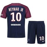 Kit Camiseta + Short Psg Neymar Niño Kid Nene 2018 Original