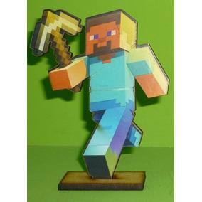 Figura En Fibrofacil Candy Bar Centro De Mesa Minecraft