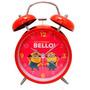 Relógio Despertador Minions Bello Vermelho Original Presente