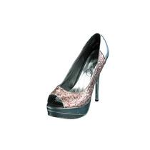 Zapatos C/punta Abierta Baby Phat Mujer T. 7.5 B, M Usados