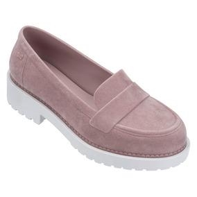 Sapato Flat Form Feminino Zaxy Date Estilo Melissa Veludo