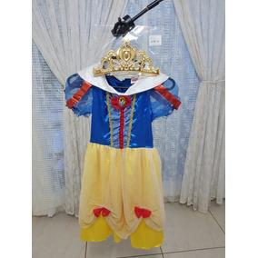 Disfraz Vestido Blanca Nieves Disney 8 A 10 Años Halloween