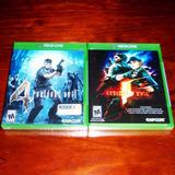 Lote 2 Vj Resident Evil 4 Y Resident Evil 5 Xbox One Nuevos