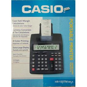 Calculadora Casio Com Impressora Portátil Hr-150tm- Bk-a