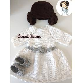 Vestido Princesa Leia Crochet