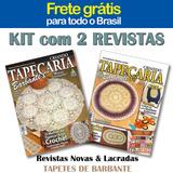 2 Revistas Tapeçaria Barbante Croche Tapete Frete Gratis