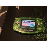 Gameboy Advance Retroiluminado Backlight Verde Trasparente