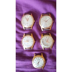 Reloj Watra Enchapado Oro Nuevo Sin Uso A Cuerda