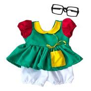 Fantasia Inspiração Chiquinha Baby Com Óculos Mesverário