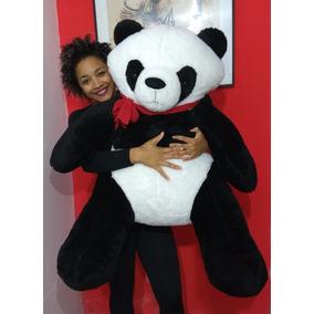 Urso Panda De Pelúcia Gigante 110cm Bicho De Pelúcia Grande