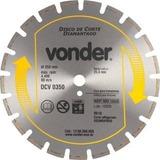 Disco Diamantado Para Asfalto E Concreto Dcv 350 Vonder