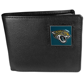 Jacksonville Jaguars Nfl Piel Bi-fold Portafolios
