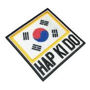 Bandeira Coreia Do Sul Hap Ki Do Patch Bordado Kimono