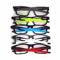 Armação Óculos De Grau Oaklei Troca Hastes Várias Cores