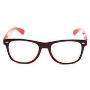 Armação De Óculos Thomaston Reeves Preto E Vermelho