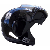 Capacete Ebf E8 Preto Robocop - Articulado - Escamoteável