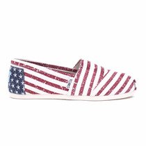 Zapatos Toms American Flag Mujer