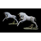 Par De Cavalos Em Porcelana Alemã Hutschenreuthe