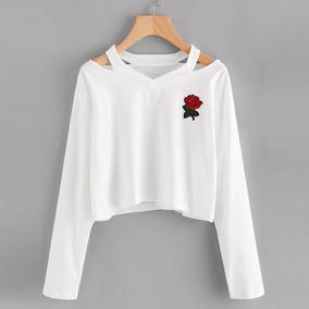 Sueter Dama Sweater Croptop Marciano Alliens Rosas