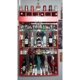 Elegante Mueble Vitrina Led Bar Melamina Licores Vinos Ron