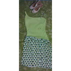 Vestido Verde Elegante Strecht Diseño Exclusivo Talla M