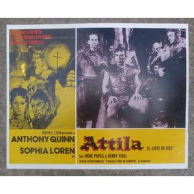 Antiguo Cartel De Cine Lobby Card Attila El Azote De Dios!