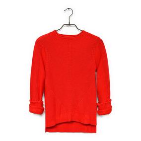 Sueter Color Siete Para Mujer - Rojo