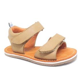 Sandália Infantil 100% Couro Blue Infantis Com Velcro