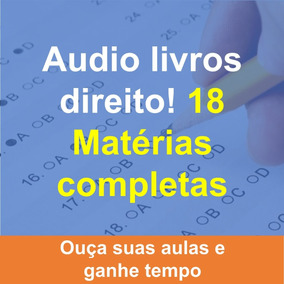 Audio Livros Books Com Matérias De Direito! 18 Matérias!