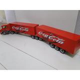 Carreta Bau Coca Cola Scania Bitrem Super Comprido De 9 Eixo