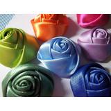 Flores De Cinta Y Tela Rositas Capullos Il Para Lazos