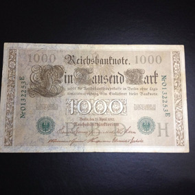 Cédula Alemanha 1000 Marcos Ano 1910 Original - Mbc