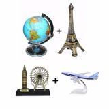 Globo Cofre + Torre Eiffel + Roda Gigante London + Boeing