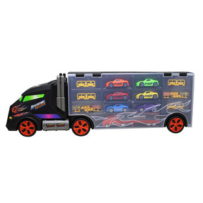 Camión Con Autos Y Accesorios + Deslizador Integrado