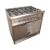 Cocina Usman Semi Industrial 90cm Acero 6 Hornallas