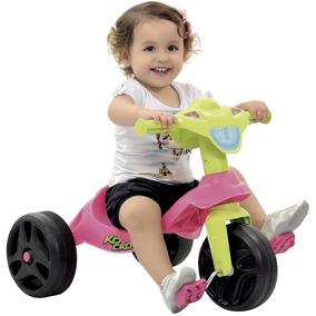 Triciclo Infantil Rosa Motoca Menina P/ Passeio Bandeirante