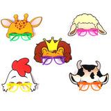 Óculos Máscara Animais Da Floresta 5 Unidades