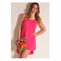Vestido Mujer Fucsia O Rosa Talles S Al L Giacca