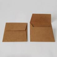 100 Und. Envelopes (convite 10x10cm) Aba Reta - Kraft